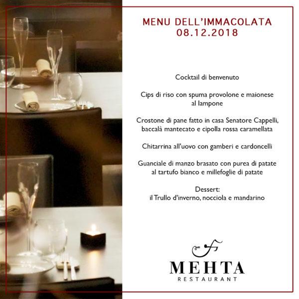 Menu Immacolata Ristorante a Martina Franca Mehta
